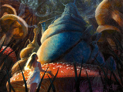 Alice In Wonderland Artist Painting - Advice From A Caterpillar by Christopher Clark