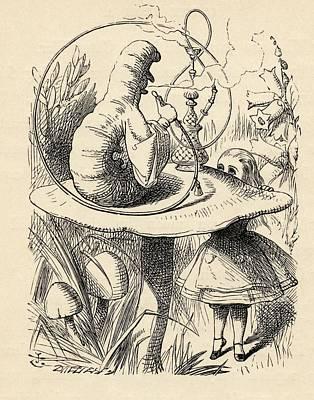 Advice From A Caterpillar Illustration Art Print