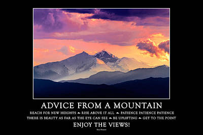 Photograph - Advice From A Mountain by Teri Virbickis