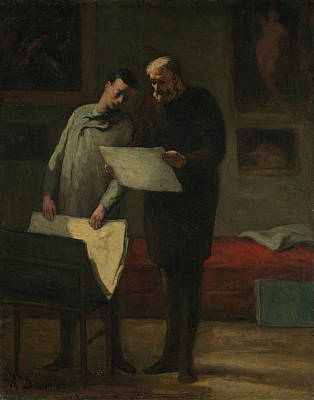Painting - Advice To A Young Artist by Honore Daumier