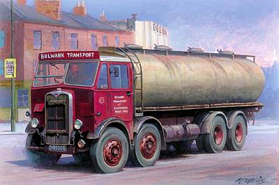 Painting - Aec Mammoth Major Tanker Bulwark by Mike Jeffries