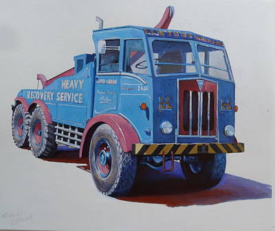 Art Print featuring the painting Aec Militant Lloyds by Mike Jeffries