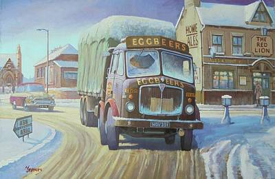 Painting - Aec Tinfront In The Snow. by Mike Jeffries