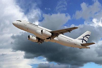Aegean Airlines Airbus A320-232 Art Print