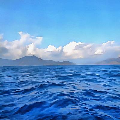 Painting - Aegean Blue by Tracey Harrington-Simpson