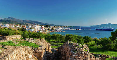 Aegina Photograph - Aegina Harbor From Apollo's Temple by Mountain Dreams