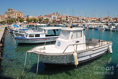 Photograph - Aegina Island Boats In Greece by David Fowler