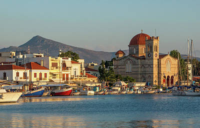 Photograph - Aegina Sunset by Jebulon