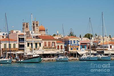 Photograph - Aegina Town In Greece by David Fowler
