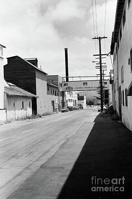Photograph - Aenas Sardine Paciking Co, Cannery Row Circa 1970 by California Views Mr Pat Hathaway Archives