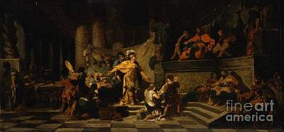 Aeneas Painting - Aeneas Offering Presents To King Latinus by MotionAge Designs