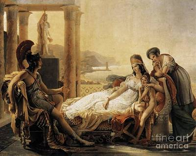 Aeneas Painting - Aeneas Tells Dido The Misfortunes  by MotionAge Designs