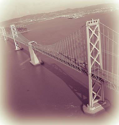 Photograph - Aerial Bay Bridge Sf by David Perea