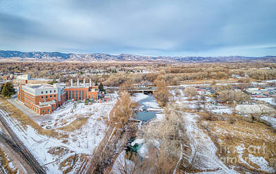 Photograph - aerial cityscape of Fort Collins by Marek Uliasz
