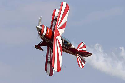 Photograph - Aerial Display By Biplane by Cliff Norton