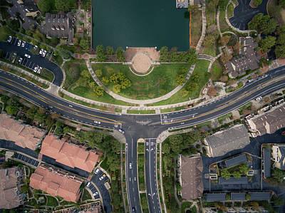 Photograph - Aerial Drone Suburban Design Temecula California by Adam Rainoff