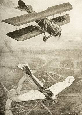 Aerial Duel On The Western Front Art Print