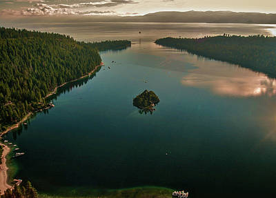 Photograph - Aerial Emerald Bay by Steven Lapkin