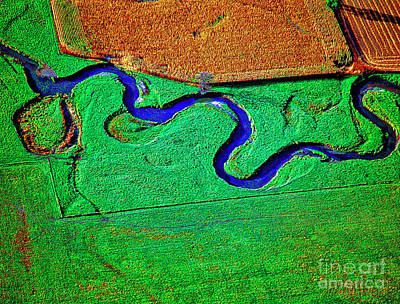 Photograph - Aerial Farm Stream 3 by Tom Jelen