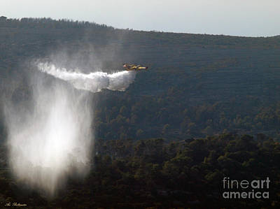 Aerial Photograph - Aerial Firefighting by Arik Baltinester