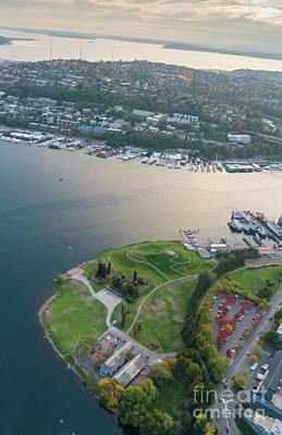 Photograph - Aerial Gasworks Park by Mike Reid