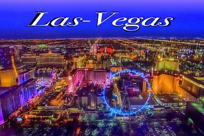 Photograph - Aerial Las- Vegas Evening by Jodi Jacobson