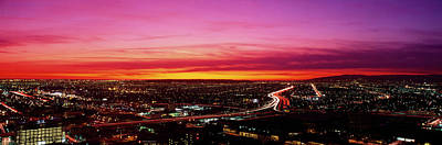 On Location Photograph - Aerial Los Angeles Ca by Panoramic Images