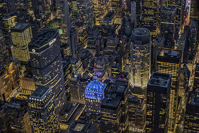 Skyline Photograph - Aerial New York City Skyscrapers by Susan Candelario