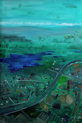 Aerial Perspective Painting - Aerial by Nicole Nemitz