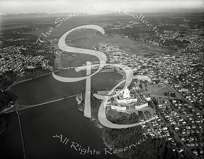 Photograph - Aerial North Over Olympia Ca 1947 by Merle Junk