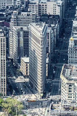 Photograph - Aerial Of Flatiron Building, New York, Usa by Matteo Colombo
