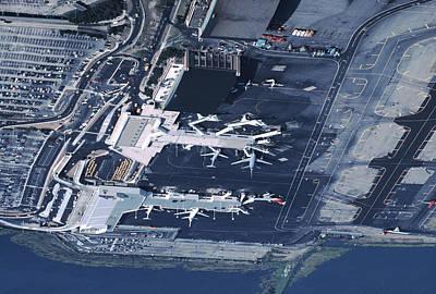 Aerial Of La Guardia Airport In New Art Print by Ira Block