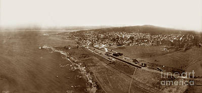Photograph - Aerial Of Pacific Grove  July 10, 1906 by California Views Mr Pat Hathaway Archives