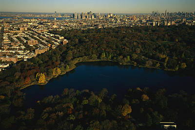 Aerial Of Prospect Park Print by Melissa Farlow