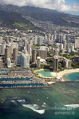 Aerial Of Waikiki Art Print