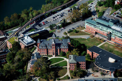 Photograph - Aerial Of Woodburn Hall With Prt by Dan Friend