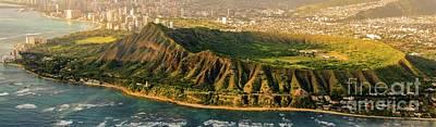Photograph - Aerial Panorama Skyline -  Diamond Head Crater - Honolulu - 933 by D Davila