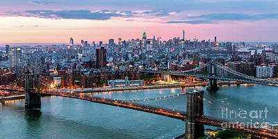 Photograph - Aerial Panoramic Of Midtown Manhattan At Dusk, New York City, Us by Matteo Colombo
