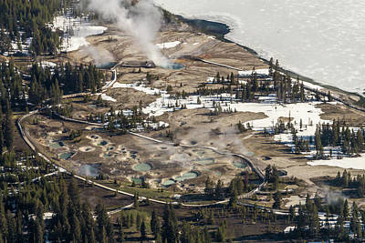 Photograph - Aerial Photo Of West Thumb Geyser Basin by Janet Jones