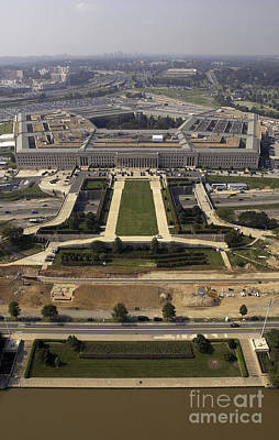Pentagon Photograph - Aerial Photograph Of The Pentagon by Stocktrek Images
