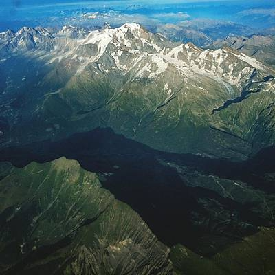 Photograph - Aerial Photograph Of The Swiss Alps by Samuel Pye