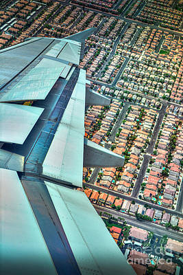 Photograph - Aerial Right Turn by David Zanzinger