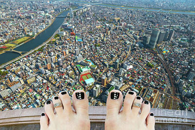 Photograph - Aerial Suicide Tokyo by Benny Marty