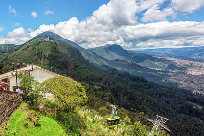 Aerial Tramway Photograph - Aerial Tramway On Monserrate by Jess Kraft