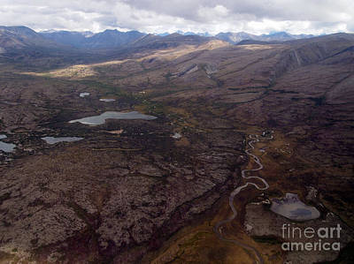 Clarks Hill Lake Photograph - Aerial Tundra by Leah Vi