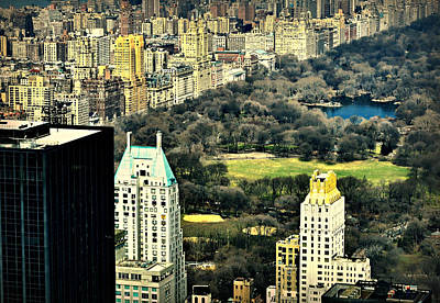Photograph - Aerial View Central Park by Diana Angstadt