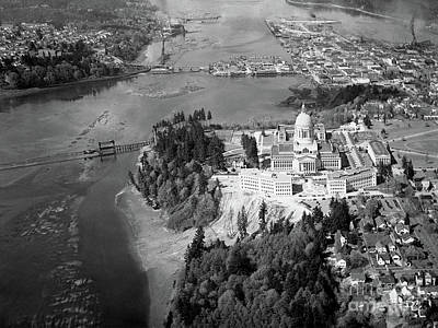 Aerial View Northward Over Olympia Art Print