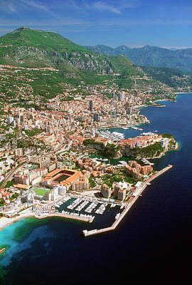 Aerial View Of A City, Monte Carlo, Monaco, France Art Print