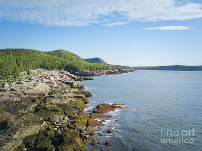 Photograph - Aerial View Of Acadia Coastline by Michael Ver Sprill