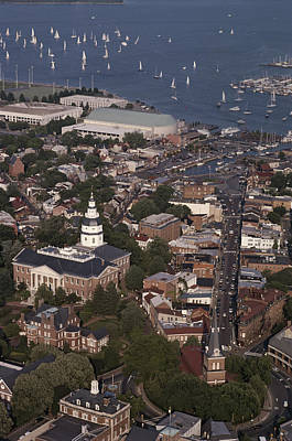 Aerial View Of Annapolis. The Art Print